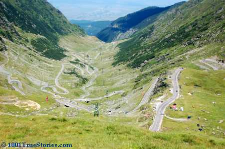 The wild Romanian road Transfagarasan, chosen by TV show Top Gear as the world's best in 2011