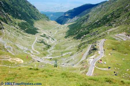 The wild Romanian road Transfagarasan, chosen by TV show Top Gear as the world's best in 2011