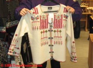 The Norwegian handmade, woolen cardigan jacket in my Ask And It Is Given story