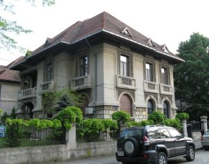 Old Manor from the beginning of 20th century in Bucharest, Romania - typical Romanian architecture